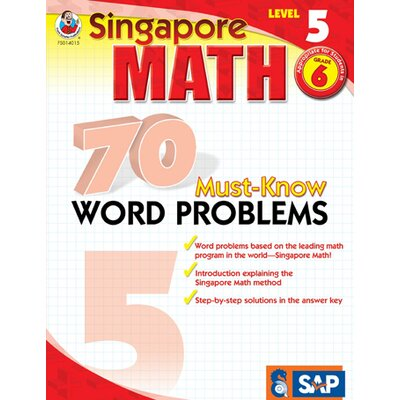 Frank Schaffer Publications/Carson Dellosa Publications 70 Must Know Word Problems Level 5