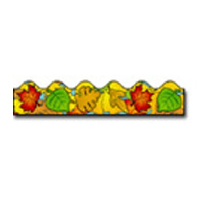 Frank Schaffer Publications/Carson Dellosa Publications Border Colored Leaves Scalloped
