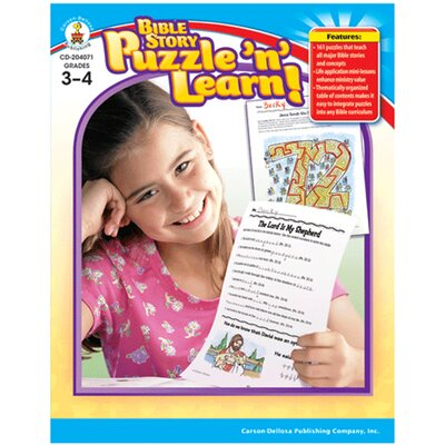 Frank Schaffer Publications/Carson Dellosa Publications Bible Story Puzzle N Learn Gr 3-4
