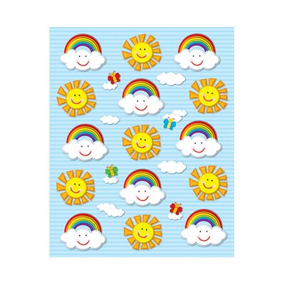 Frank Schaffer Publications/Carson Dellosa Publications Suns & Rainbows Shape Stickers 90pk