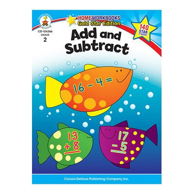 Frank Schaffer Publications/Carson Dellosa Publications Add & Subtract Home Workbook Gr 2