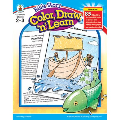 Frank Schaffer Publications/Carson Dellosa Publications Bible Story Color Draw N Learn