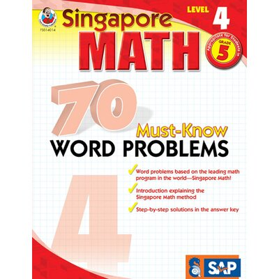 Frank Schaffer Publications/Carson Dellosa Publications 70 Must Know Word Problems Level 4