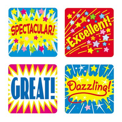 Frank Schaffer Publications/Carson Dellosa Publications Stickers Positive Words 120/pk Acid