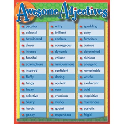 Frank Schaffer Publications/Carson Dellosa Publications Awesome Adjectives Chartlet