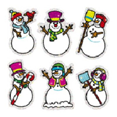 Frank Schaffer Publications/Carson Dellosa Publications Dazzle Stickers Snowmen 90-pk Acid