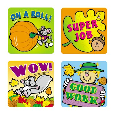 Frank Schaffer Publications/Carson Dellosa Publications Stickers Fall Fun 120/pk Acid &