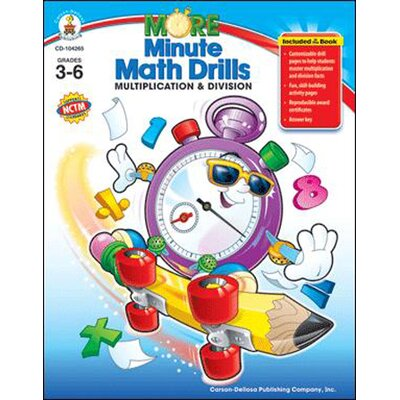Frank Schaffer Publications/Carson Dellosa Publications Minute Math Drills Multiplication