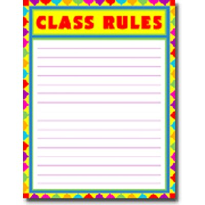 Frank Schaffer Publications/Carson Dellosa Publications Class Rules Blank