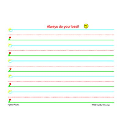 Frog Street Press Smart Start K-1 Writing Paper 100