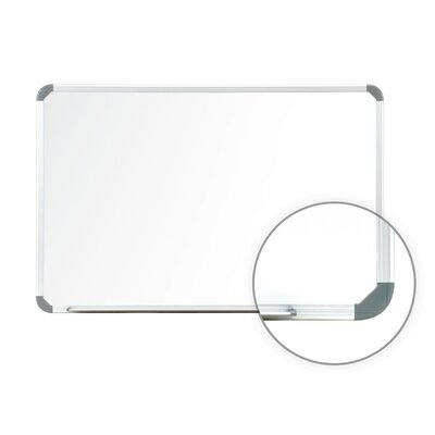 Ghent Aluminum Radial Edge Euro Style Magnetic Whiteboard