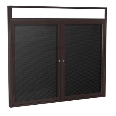 Ghent 2 Door Aluminum Frame Enclosed Vinyl Letterboard