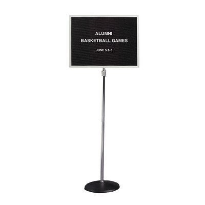 "Ghent 18"" x 24"" Pedestal Enclosed Changeable Letterboard"