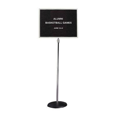 "Ghent 18"" x 24"" Pedestal Open Face Changeable Letterboard"