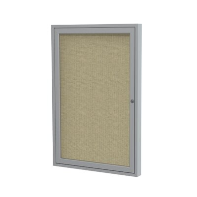 Ghent 1 Door Aluminum Frame Enclosed Fabric Tackboard