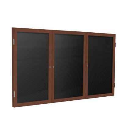 Ghent 3 Door Wood Frame Enclosed Flannel Letterboard