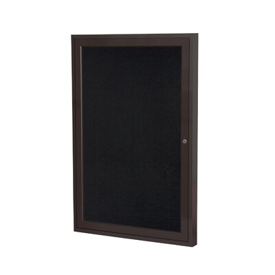 Ghent 1 Door Aluminum Frame Enclosed Recycled Rubber Tackboard