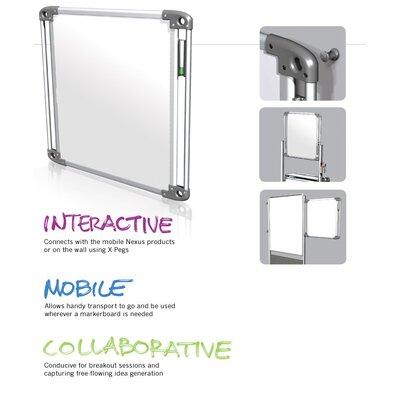 "Ghent Nexus Double-Sided Portable 2' 3.88"" x 2' 3.88"" Whiteboard"