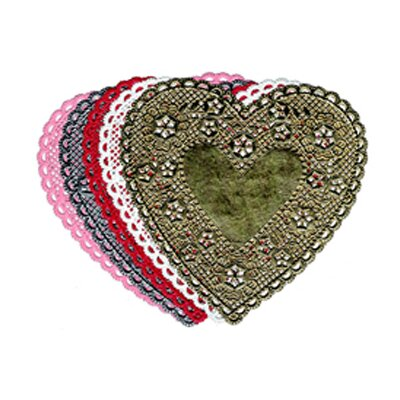 Hygloss Products Inc Doilies 6 Red Hearts 100/pk