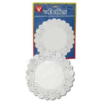 "Hygloss Products Inc Doilies 4"" White Round 100/pkg"