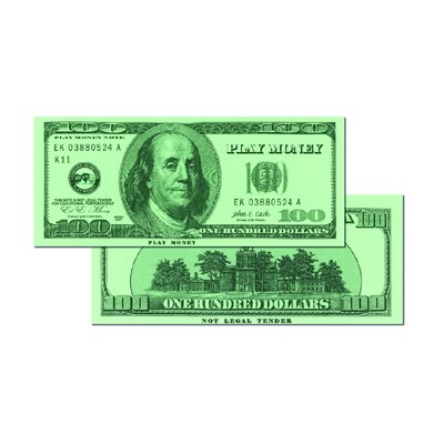 Learning Advantage $100 Bills (Set of 50)