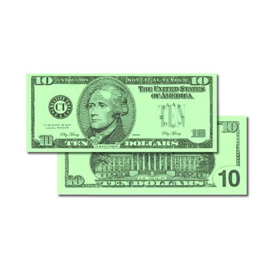 Learning Advantage $10 Bills (Set of 100)