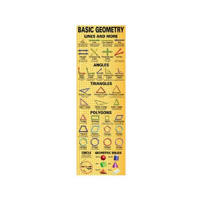 McDonald Publishing Basic Geometry Colossal Poster
