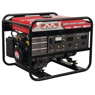 6,000 Watt 13 HP Honda OHV Portable Gasoline Generator with Electric Start - GEN-6000-0MHE