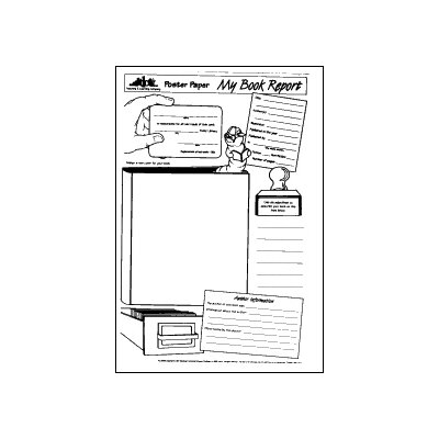 Milliken & Lorenz Educational Press Poster Paper My Book Report 30pkg