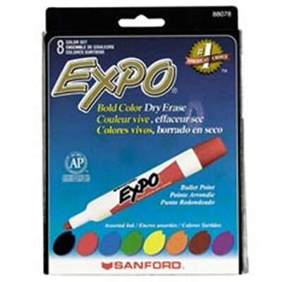 Newell Corporation Marker Set Expo Dryerase 8 Color