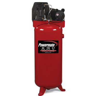 Powermate 60 Gallon Cast Iron Oil Lubricated Belt Drive Air Compressor