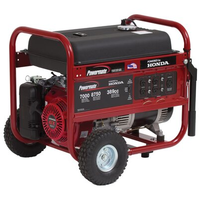 Powermate 7000 Watt Portable Generator with Recoil Start
