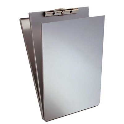 "Saunders Form Holder with Top Opening Storage Compartment, 8-1/2""x14"",Aluminum"