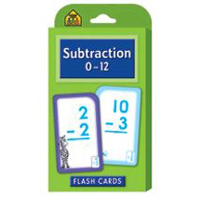 School Zone Publishing Subtraction 0-12 Flash Cards