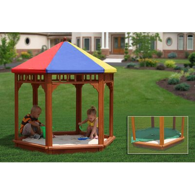 Gorilla Playsets Play-Zee-Bo Covered Sandbox