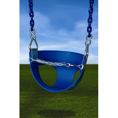 Gorilla Playsets Half Bucket Swing in Blue