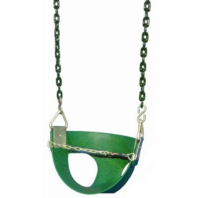 Gorilla Playsets Half Bucket Swing in Green