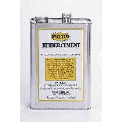 Union Rubber Rubber Cement 1 Gallon Can