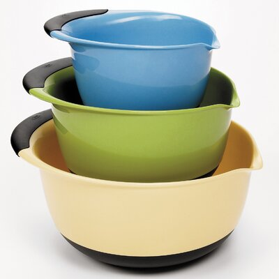 OXO 3 Piece Mixing Bowl Set - Plastic (Asst)
