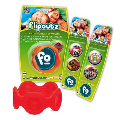 Flipoutz Bracelet with One Coin and Two Additional Coin Pack in Red