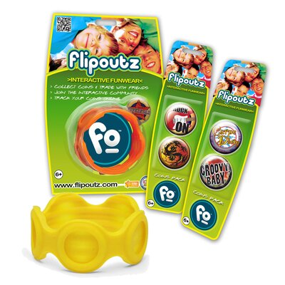 Flipoutz Bracelet with One Coin and Two Additional Coin Pack in Yellow