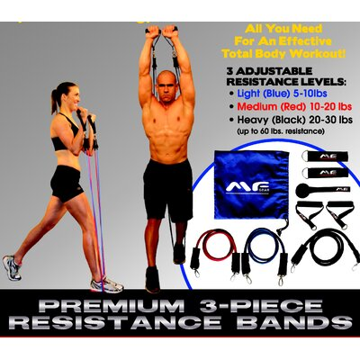 Maximum Fitness Gear 3 Piece Resistance Bands