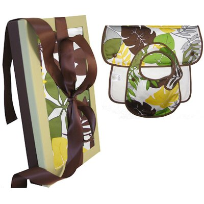 Organic Bib and Burp Gift Set in Rainforest
