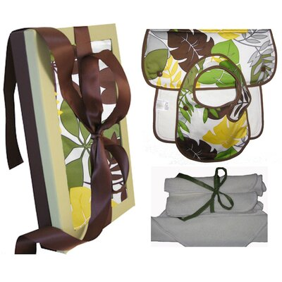 Wow Baby Organic Bib, Burp and Wash Gift Set in Rainforest
