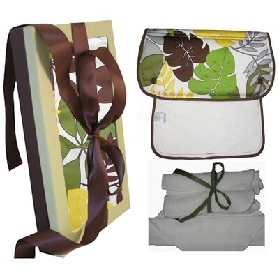 Wow Baby Organic Burp and Wash Gift Set in Rainforest