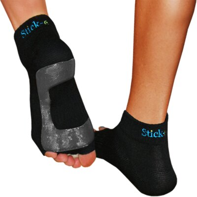 Stick-E Yoga Small Yoga Socks in Black (1 Pair)