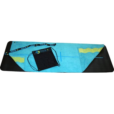 Stick-E Yoga Deluxe Hot Yoga Towel in Blue