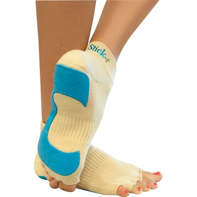 Stick-E Yoga Large Yoga Socks in Beige (1 Pair)
