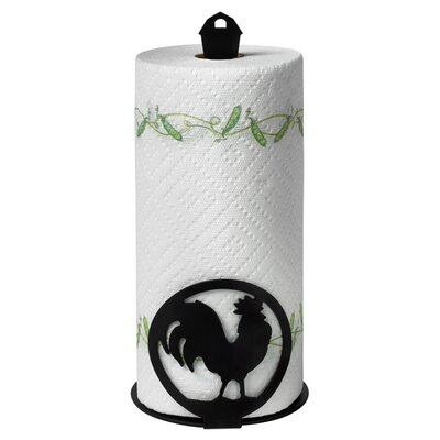 <strong>Spectrum Diversified</strong> Silhouettez Pantry Rooster Paper Towel Holder in Black