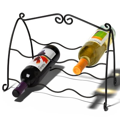 Spectrum Diversified Scroll 6 Bottle Wine Rack